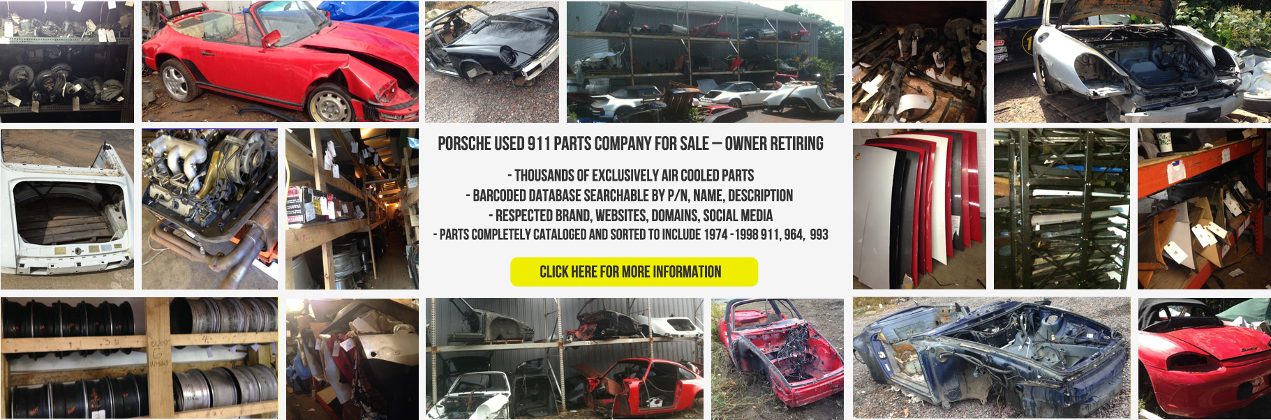 Porsche Parts Business For Sale